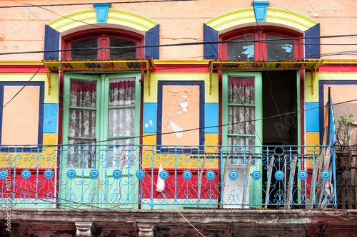 Fotobehang Buenos Aires la boca painted house in Buenos Aires