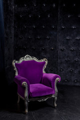 Aristocratic chair in classic interior