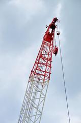 Construction heavy industrial machine, Crawler crane tip, Japan