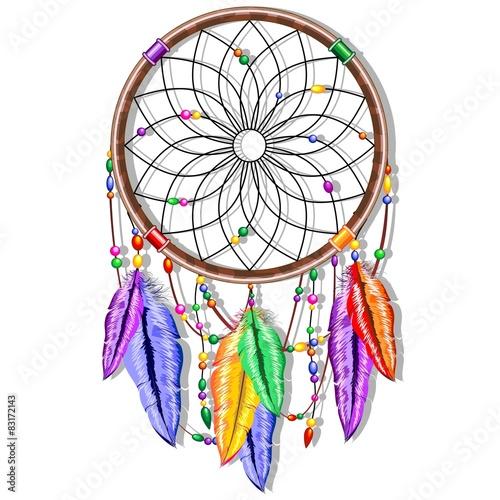 Dreamcatcher Rainbow Feathers