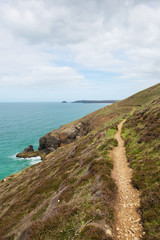 South West Coast Path south of Perranporth  Cornwall England UK