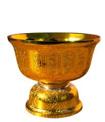 Golden pan close up