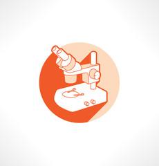 Microscope vector icon.