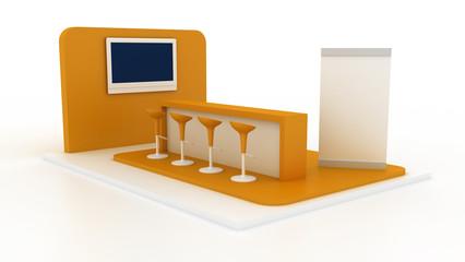 Empty exhibition stand