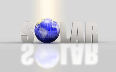 Solar - Typo Globe