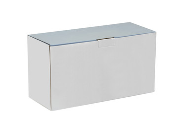 Real Cardboard box closed