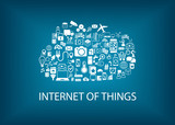 Internet of things (IoT) concept with cloud computing poster