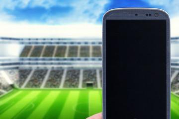 Smartphone at stadium