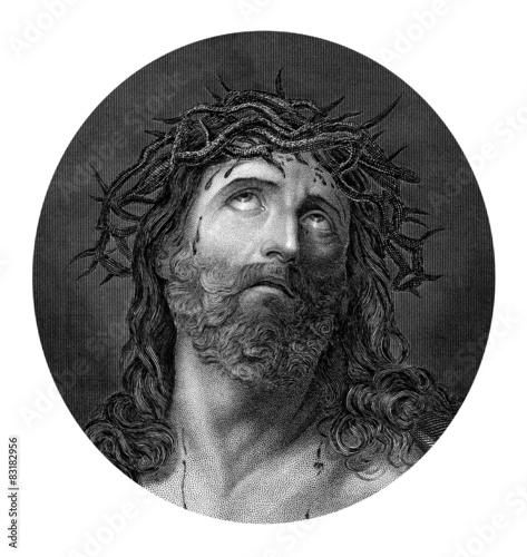 Zdjęcia na płótnie, fototapety, obrazy : Crucifixion of Jesus Christ from a Bible dated 1852