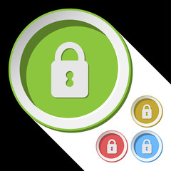 color icons with closed padlock