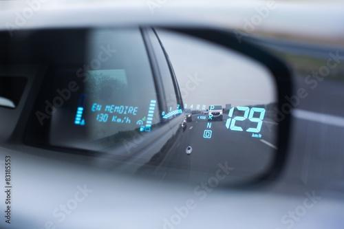 Poster régulateur vitesse