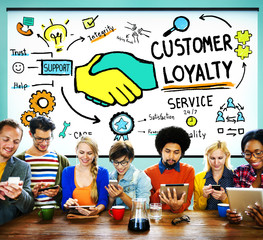 Customer Loyalty Satisfaction Support Strategy Service Concept