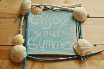 Лето, ракушки, голубое
