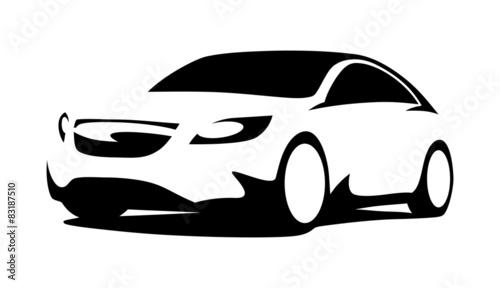 Fotobehang F1 Car silhouette modern