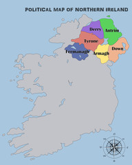 Political Map of Northern Ireland