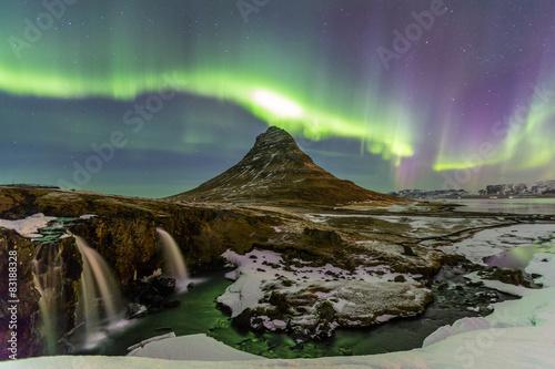 Poster Northern Light Aurora borealis