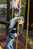 Girl climber training