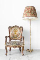 Retro Chair with lamp