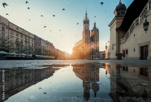 Fotobehang Krakau Krakow Market Square