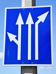 Arrow road signs