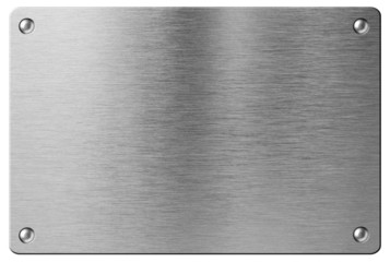 steel metal plate with rivets isolated