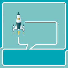 Start Up New Project Speech Bubbles and Chat symbol.
