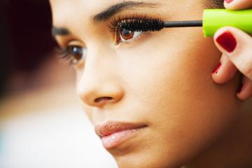 Eyeslash makeup, latin woman portrait