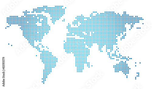 Canvas Wereldkaarten Abstract vector illustration of a dotted worldmap
