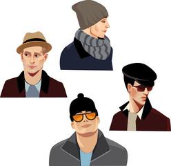 fashion men in hats