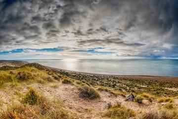 patagonia coast landscape in valdes peninsula