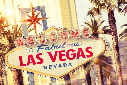 Poster Las Vegas Willkommen