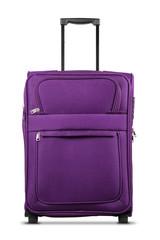 Purple Suitcase Isolated on White Background