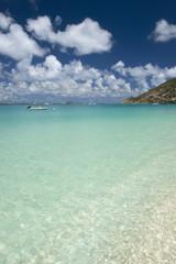 Shallow water in Saint Martin