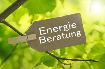 Energieberatung Schild