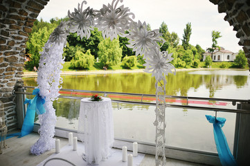 Wedding ceremony & Wedding decorations.Wedding Archway