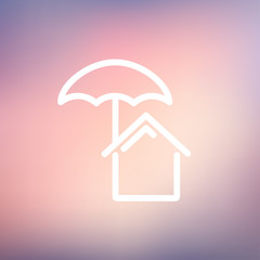 House insurance thin line icon