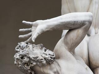 rape of sabine women statue detail