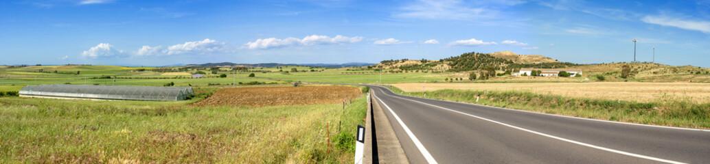 Sardegna, panorama dalla strada statale 128