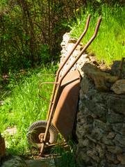 Garden wheelbarrow after work