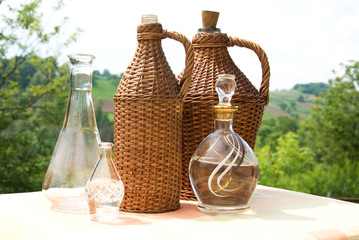 Bottle of wicker