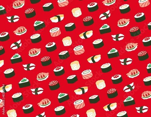 Fototapeta Sushi seamless pattern