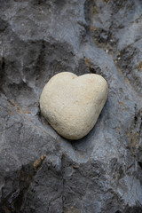 Stein in Form eines Herzens