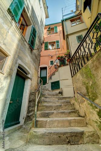 Obraz Alley in Italian old town Liguria Italy