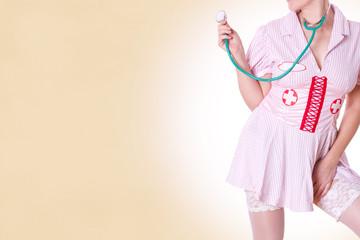 sexy Krankenschwester mit Stethoskope