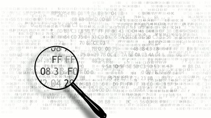 Search in hexadecimal code security code