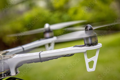 Juliste blurred drone propellers