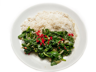 spinach with ginger and coconut milk