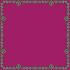 ornamental vector frame.