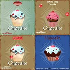 set Vintage Cupcake