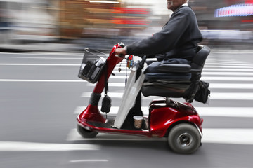 disabled on a city street